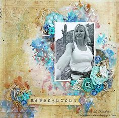 """Layout by More Than Words DT member Mona Pendleton inspired by the January """"Personality"""" & """"Selfie"""" Main Challenge. More details at http://morethanwordschallenge.blogspot.ca/2016/01/january-main-challenge-personality.html  #morethanwords #mtwchallenge #morethanwordschallenges #mtw"""