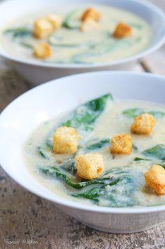 Vegan Spinach Artichoke Soup via Vegalicious! #vegan recipe