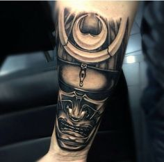 My forearm of Japanese samurai mask tattoo Oriental