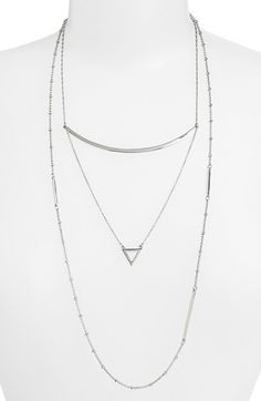 Nordstrom Asymmetrical Layered Necklace available at #Nordstrom