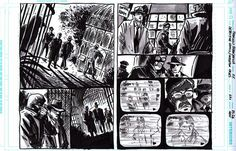 Francesco Francavilla  Página demolidora do italiano, que mostram um excelente domínio da narrativa. O Fumetti tem essa cara de cinema clássico em quadrinhos e, por isso, é HQ de fino trato.