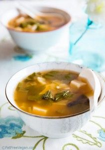 Super food miso soup- I added way more miso than called for in the recipe...(FYI)