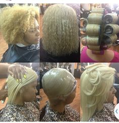 Natural hair roller set