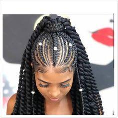 Cornrows updo cornrow pelucas trenzadas peluca trenzadas | Etsy Twist Box Braids, Box Braid Wig, Braids With Curls, Long Box Braids, Braids Wig, Kid Braids, Dutch Braids, Black Hair Updo Hairstyles, Roll Hairstyle