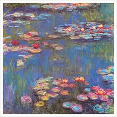 """Monet's """"Water Lilies""""...first painting I fell in love with..."""