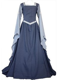 Blue Medieval dress by Dornbluth. with a little more decorations embriodery type stuff this is somthing Alizia would wear. Medieval Dress, Renaissance Dresses, Renaissance Fashion, Medieval Clothing, Historical Clothing, Medieval Gothic, Gypsy Clothing, Historical Photos, Costume Viking