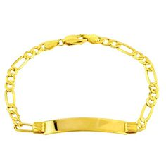Save $538.00 on 14k Gold 4.5mm Women`s ID Bracelet, 7; only $432.00 + Free Shipping