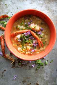 Corn, Sweet Potato and Lobster Chowder by Heather Christo, via Flickr