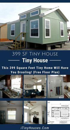 Tiny House Village, Shed To Tiny House, Small House Plans, Small House Living, Small House Design, Free Floor Plans, House Floor Plans, Cottage Plan, Happy House
