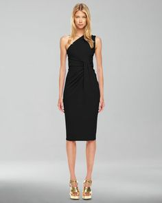 One-Shoulder Jersey Dress by Michael Kors at Neiman Marcus.