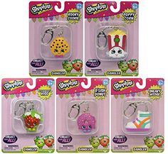 Now you can hang your favorite Shopkins from you favorite places! Shopkins Danglers clip onto your backpack bags clothes anywhere you want! Collect them all! Collect all your favorite Shopkins and ...
