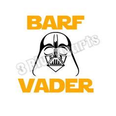Barf Vader Svg studio dxf pdf jpg png by 3BlueHeartsDesign on Etsy