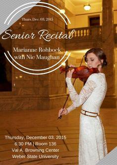 Senior Violin Recital Poster