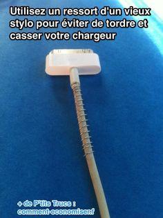 Mettez un ressort sur votre cable pour éviter de le casser