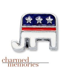 Charmed Memories Republican Elephant Sterling Silver Charm