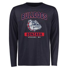 Gonzaga Bulldogs Campus Icon Long Sleeve T-Shirt - Navy