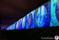 Biennale Bad Rothenfelde - Videoprojektion auf Gradierwerk
