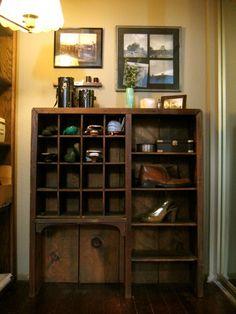 antique wooden storage