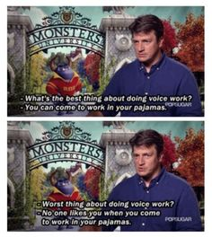 Nathan Fillion is in Monsters University..... Like i needed another reason to want to watch it?