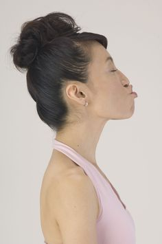 A sideways kiss can have beautiful results with the Face Yoga Method