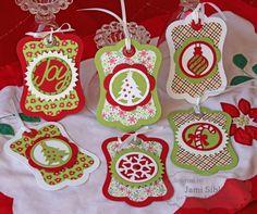 Bright Christmas Tags by Jami Sibley #Tags, #Christmas