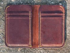 Handmade Italian Vegetable Tanned Leather Wallet by sergeyleather on Etsy