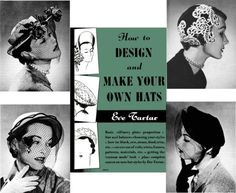 MILLINERY Hat Making Design Hats TARTAR CD Book Retro
