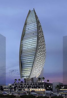 Iris Bay Tower by Atkins Architects :: 32 floors, height 170m