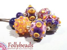 Hey, I found this really awesome Etsy listing at https://www.etsy.com/au/listing/527694276/handmade-lampwork-artisan-glass-bead-set