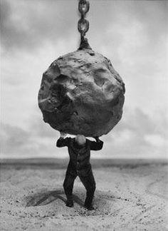 Atlas malheureux - Atlas unhappy by gilbert garcin