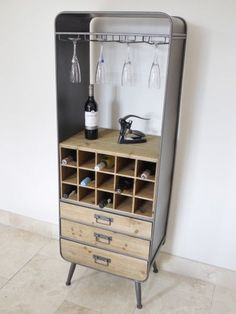 Industrial Wine Cabinet. We love the retro feel of this unit, which provides a useful yet stylish storage solution. High quality products. | eBay!