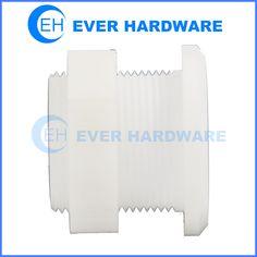 Plastic Nut Bolt White Nylon Hex White Fasteners Product Custom Strong