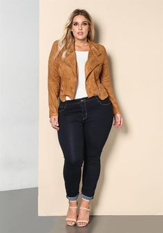 Plus Size Clothing | Plus Size High Rise Skinny Jeans | Debshops