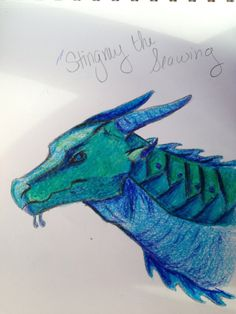 amazing Seawing done in colored pencil