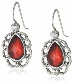 "1928 Jewelry ""1928 Red Jeweltones"" Silver-Tone Siam Red Small Pear Drop Earrings 1928 Jewelry,http://www.amazon.com/dp/B00ESZ3294/ref=cm_sw_r_pi_dp_FLiGtb1WBFC9ER9G"