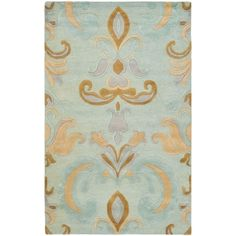 @Overstock.com - Handmade Soho Passage Light Blue New Zealand Wool Rug (6' x 9') - With a plush 0.5-inch pile height, this soft wool rug is a welcoming touch of cushion to your tired feet. A dense, thick pile of New Zealand wool highlights this handmade rug.  http://www.overstock.com/Home-Garden/Handmade-Soho-Passage-Light-Blue-New-Zealand-Wool-Rug-6-x-9/7280502/product.html?CID=214117 $255.59