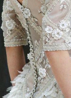 Chanel embroidery is so inticate, it could take a team of artizans, 200 days to create a dress like this!....x
