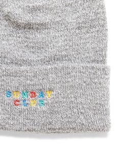 00eb41267f3 The Idle Man - Embroidered Sunday Club Beanie Grey