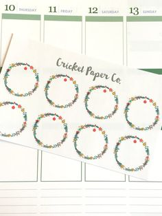 Winter Wreath Stickers, Rustic Planner Stickers, Seasonal Stickers, Erin Condren Planner Stickers, Functional Stickers, ECLP, Filofax