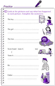Grade 4 Grammar Lesson 18 The present tense Writing Sentences Worksheets, Subject And Predicate Worksheets, English Worksheets For Kids, English Lessons For Kids, Kids English, Learn English Words, Sentence Writing, Picture Comprehension