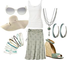 """""""BEACH CASUAL"""" by klasalle2 on Polyvore"""