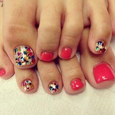 """83 Likes, 3 Comments - nailsalon SOW (@nail_sow) on Instagram: """"#nail #nails #nailart #nailartclub #ネイル #ネイルアート #foot"""""""
