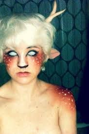 Kinda reminds me of Mr. Tumnus! Only creepy. I would get the big solid black contacts for this.