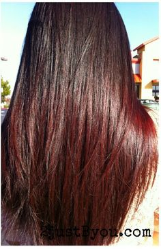 Brown roots with red tips