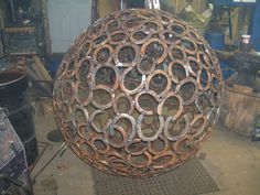 Sphere 48 inches in diameter made from recycled by JCForge on Etsy, $4500.00