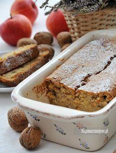 Ciasto dyniowe z orzechami, ciasto z dynią, dynia, jabłka, orzechy, http://najsmaczniejsze.pl #food #ciasto #cake #dynia