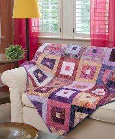 Raspberry Roll Quilt