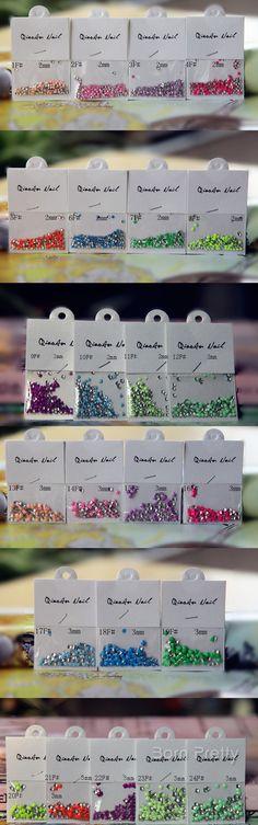 $4.99 1 bag Candy Fluorescent Colors Square Stud Rhinestone Acrylic UV Gel Nail Art Decoration - BornPrettyStore.com