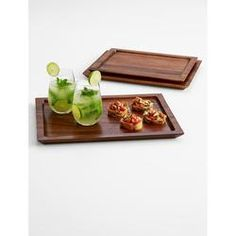 Nested Wood Tray Set