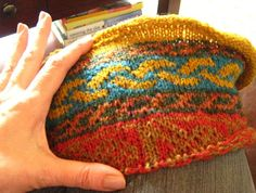 Oh, Kaffe Fassett, how I love your amazing colorways and patterns. If only I could knit!